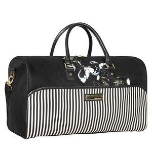 Vince Camuto duffle bag floral & stripes